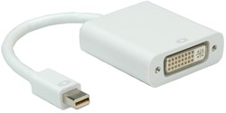 Adapter mini DisplayPort male naar DVI-I female