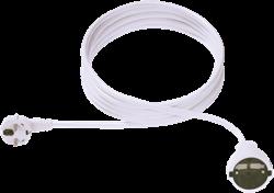 Kabel stroom verleng 10 meter wit