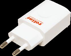 Oplader USB 1 poort 12W wit