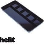 Pennenbakje Helit 6-vaks zwart