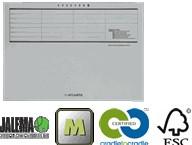 Dossieromslag A4 gelijkzijdig grijs A6000-441