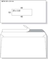 Enveloppen bank 109x224mm Motif Premium bankgiro zelfklevend ds/500