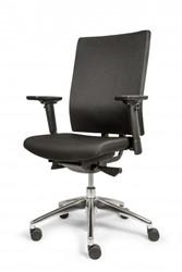 Bureaustoel DEKAS model Edition comfort, inclusief verstelbare armleggers, stof zwart, AKTIE-MODEL