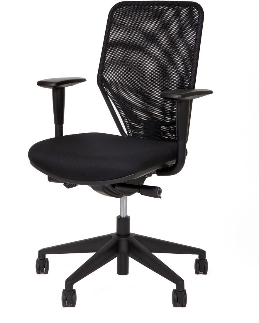 Bureaustoel Met Verstelbare Rugleuning.Bureaustoel Model Dekas 330 Zitting Zwart Gestoffeerd Rugleuning