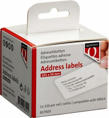 Etiket Dymo  54x101mm Badge rol/220 99014 Quantore