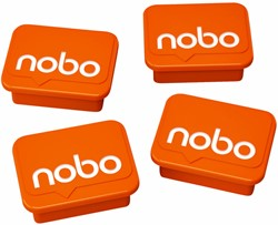 MAGNEET NOBO WHITEBOARD 22MM ORANJE 4 Stuk