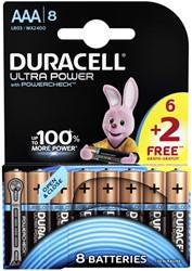 Batterij Duracell AAA Ultra power Alkaline 6+2 pack