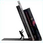 Boekensteun vallende boeken