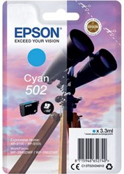 Inkcartridge Epson T02V2 502 cyaan