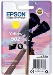 Inkcartridge Epson T02V4 502 geel