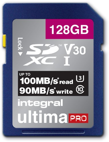 Geheugenkaart Integral SDXC V30 128GB