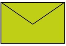Enveloppen Appel groen 90x140mm pk/5
