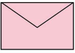 Enveloppen Baby roze 90x140mm pk/5
