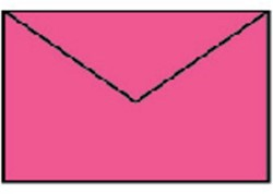 Enveloppen 90x140mm gekleurd