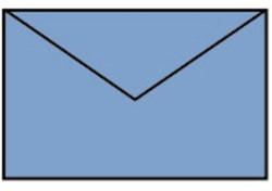 Enveloppen Midden Blauw 90x140mm pk/5