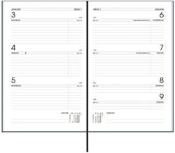 Agenda 2019 Ryam Efficiency Kort 7 dagen / 2 pagina zwart