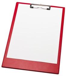 Klembord A4/folio klem 10cm rood