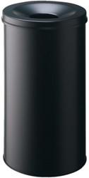 Afvalbak + vlamdover A2910-199 rond 60 liter zwart