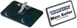Badge 40x75mm Durable 8130 Clip Card met combiklem