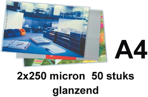 Lamineerhoes 216x303mm 2x250mic GBC A4 ds/50