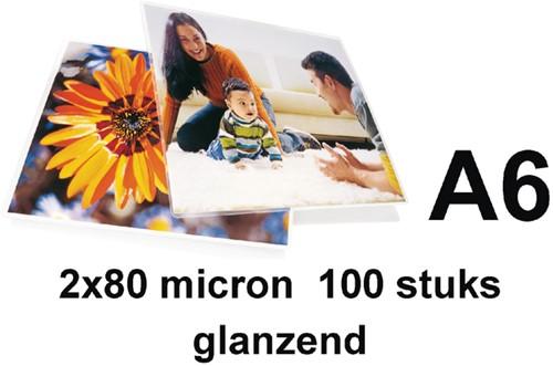 Lamineerhoes 111x154mm 2x 80mic GBC A6 ds/100