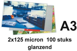 Lamineerhoes 303x426mm 2x125mic Budget A3 ds/100