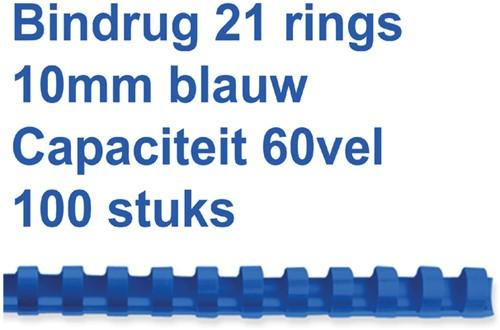 Bindruggen 21r. 10mm blauw ds/100