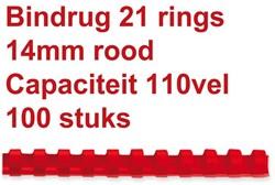 Bindruggen 21r. 14mm rood ds/100
