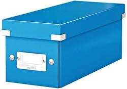 Opbergbox Leitz WOW Click & Store CD 143x136x352mm blauw