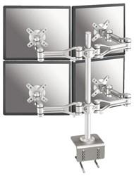 Monitorarm Newstar D1030D4 10-24' klem zilver