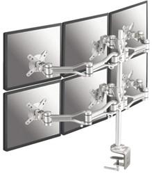 Monitorarm Newstar D1030D6 10-18' klem zilver