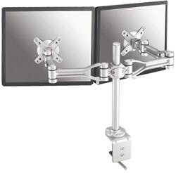 Flatscreenarm Newstar D1030 duo zilver
