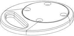 Bureaudoorvoer Newstar FPMA-D9 Grommet