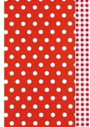 Apparaatrol Kalei dots vichy 175m x 30cm rood