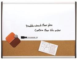Duobord Quartet 58.5x43cm Gewelfd gelakt/kurk