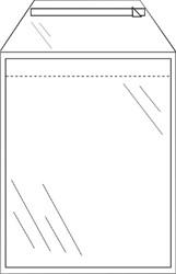 Enveloppen akte 220x300mm zelfklevend transparant pk/50