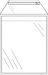 Enveloppen akte 245x350mm zelfklevend transparant pk/50