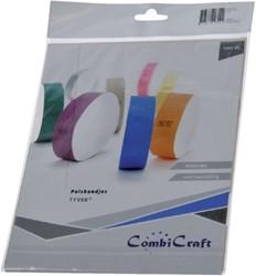 Polsband Combicraft tyvek blauw pk/100