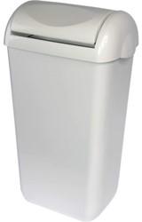 Afvalbak met swingdeksel Primesource 23 liter wit 60356