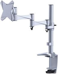 Flatscreenarm Newstar D1330 klem + doorvoer zilver