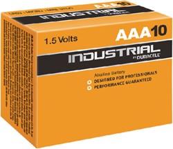Batterij Duracell industrial AAA alkaline ds/10