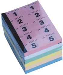 Nummerblok 1-1000 assorti pk/6