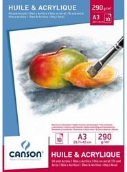 Olie-Acrylblok Canson A3 10vel 290gr
