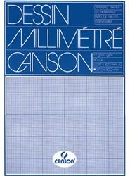 Millimeterblok Canson A3 90gr blauw blok/50vel