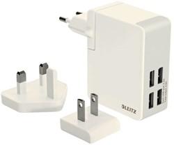 Oplader wand Leitz complete usb 4plugs 24watt