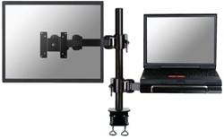 """Flatscreenarm/laptopstandaard Newstar D960 10-26"""" klem zwart"""