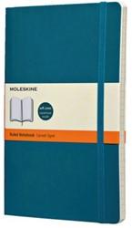 Notitieboek Moleskine lijn large zachte kaft blauw 130x210mm