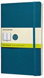 Notitieboek Moleskine blanco large zachte kaft blauw 130x210mm