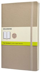 Notitieboek Moleskine blanco large zachte kaft beige 130x210mm