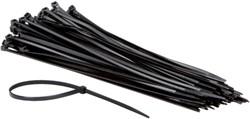 Inbindstrip Nylon 4.8x300mm zwart pak/100